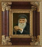 Old Man, in a beautiful and expensive frame . by Talko