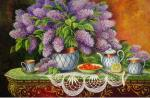 Still Life With Lilac II. by Mark Kalpin