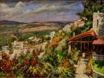 Wiew of Safed. by Itshak Holtz