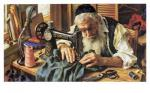 Old Jewish Tailor by Itshak Holtz