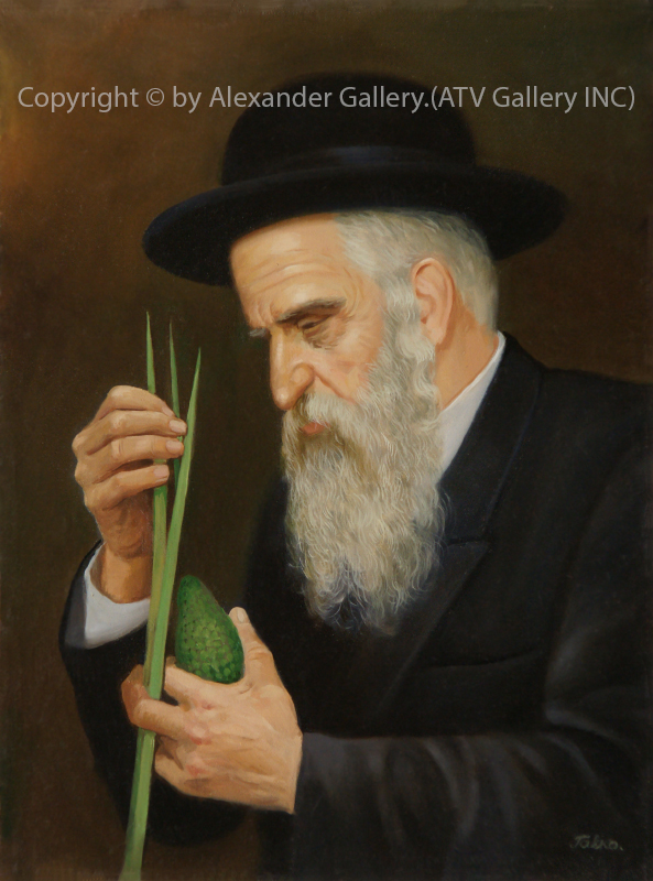 Chasid With Lulav.