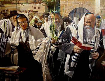 By The Kotel At Sukkot by Alex Levin