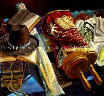 Still Life With Hat And The Torah by Alex Levin