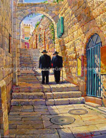 Walking in the old city by Alex Levin