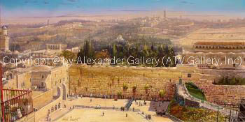 Afternoon Prayers by the Western Wall by Alex Levin