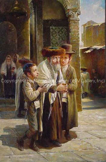 Leaving the Synagogue IV by Elena Flerova