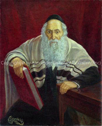 Portrait of Hasid. by Victor Brindatch