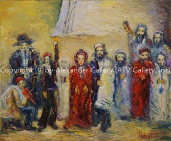 Jewish Wedding. by Aharon Yacobson (Yacobashvili)
