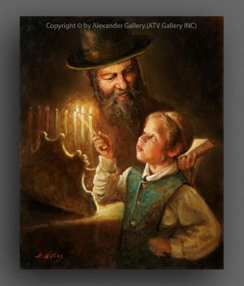 Hanukkah Lights. by H. Weiss