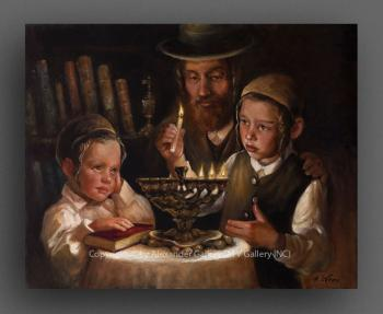 Hanukkah Lights II. by H. Weiss