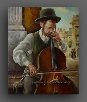 The Violoncellist. by H. Weiss