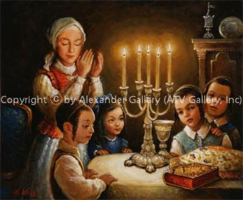 Welkoming The Shabbos III. by H. Weiss