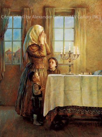 Welcoming the Shabbos by Elena Flerova