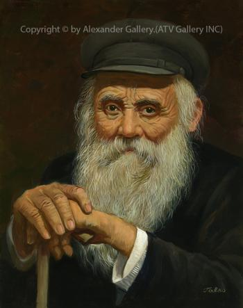 Portrait Of Old Man. by Talko